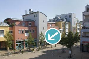 Praxiseingang von der Scheffelstraße