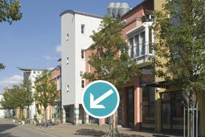 Praxiseingang von der Hauptstraße Singen am Hohentwiel